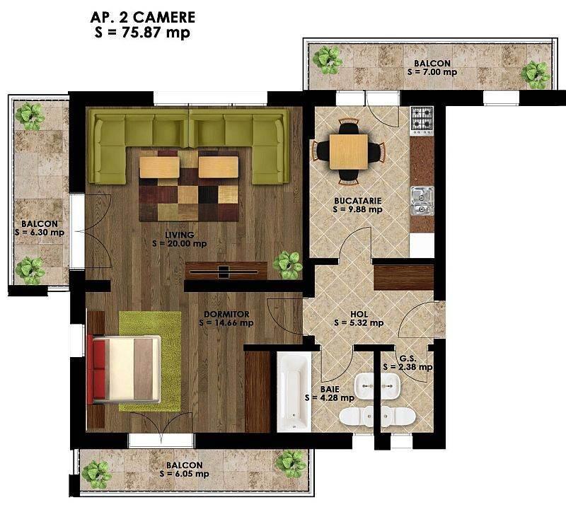 Apartament in bloc nou Bucuresti – Metrou Straulesti